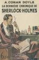 Couverture La dernière chronique de Sherlock Holmes Editions Le Masque 1929