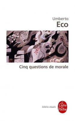 Couverture Cinq questions de morale