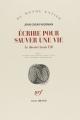 Couverture Ecrire pour sauver une vie : Le Dossier Louis Till Editions Gallimard  (Du monde entier) 2017