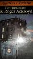 Couverture Le meurtre de Roger Ackroyd Editions Hachette (Agatha Christie) 1988