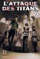 Couverture L'attaque des titans, tome 13 Editions France Loisirs 2016