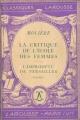 Couverture La critique de l'école des femmes, L'impromptu de Versailles Editions Larousse (Classiques) 1939