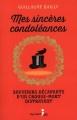 Couverture Mes sincères condoléances, tome 1 Editions Guy Saint-Jean 2015