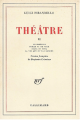 Couverture Théâtre, tome 2 Editions Gallimard  (Blanche) 1969