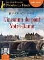 Couverture L'inconnu du pont Notre-Dame Editions Audiolib (Suspense) 2015