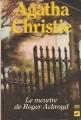 Couverture Le meurtre de Roger Ackroyd Editions Librairie des  Champs-Elysées  (Le club des masques) 1987