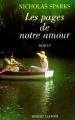 Couverture Les pages de notre amour Editions Robert Laffont 2004