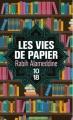 Couverture Les vies de papier Editions 10/18 (Littérature étrangère) 2017