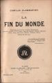 Couverture La fin du monde Editions Flammarion 1894