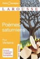 Couverture Poèmes saturniens Editions Larousse (Petits classiques) 2008