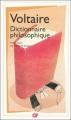 Couverture Dictionnaire philosophique Editions Flammarion (GF) 2010