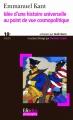 Couverture Idée d'une Histoire universelle au point de vue cosmopolitique Editions Folio  (Plus philosophie) 2009