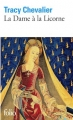 Couverture La dame à la licorne Editions Folio  2005