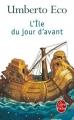 Couverture L'île du jour d'avant Editions Le Livre de Poche 2016