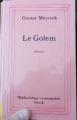 Couverture Le Golem Editions Stock (Bibliothèque cosmopolite) 1995