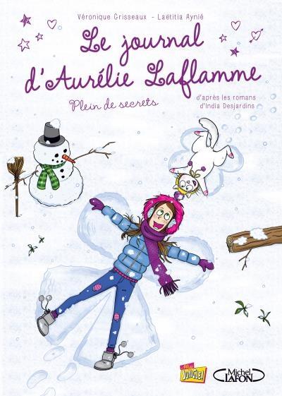 Couverture Le journal d'Aurélie Laflamme (BD), tome 4 : Pleins de secrets