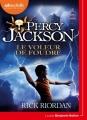 Couverture Percy Jackson, tome 1 : Le voleur de foudre Editions Audiolib 2017
