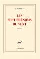 Couverture Les sept prénoms du vent Editions Gallimard  (Blanche) 2013