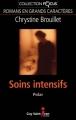 Couverture Soins intensifs Editions Guy Saint-Jean (Focus) 2013