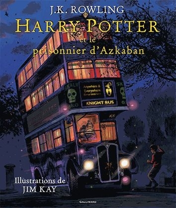 Couverture Harry Potter, illustrée, tome 3 : Harry Potter et le prisonnier d'Azkaban