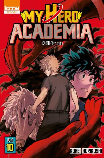 Couverture My Hero Academia, tome 10 : All for one