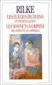 Couverture Les élégies de Duino, Les sonnets à Orphée Editions Flammarion 1992