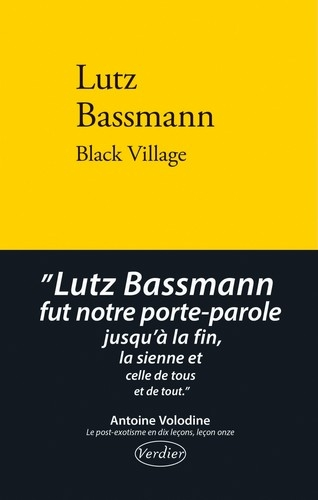 Couverture Black village
