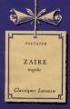 Couverture Zaïre Editions Larousse (Classiques) 1935