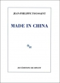 Couverture Made in China Editions de Minuit 2017