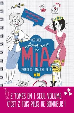 Couverture Journal de Mia, princesse malgré elle (doubles), tome 2 : Un amoureux pour Mia, Paillettes et courbettes