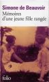 Couverture Mémoires d'une jeune fille rangée Editions Folio  2011