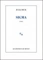 Couverture Sigma Editions de Minuit 2017