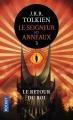 Couverture Le Seigneur des Anneaux, tome 3 : Le retour du roi Editions Pocket 2017