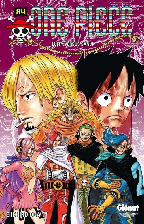 Couverture One Piece, tome 84 : Luffy versus Sanji