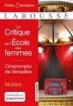 Couverture La critique de l'école des femmes, L'impromptu de Versailles Editions Larousse (Petits classiques) 2017