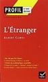 Couverture L'étranger Editions Hatier (Profil) 2016