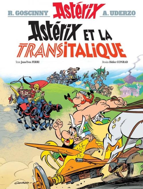 Couverture Astérix, tome 37 : Astérix et la Transitalique