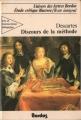 Couverture Discours de la méthode / Le discours de la méthode Editions Bordas (Univers des lettres) 1980