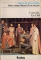 Couverture Le Cid Editions Bordas (Univers des lettres) 1977