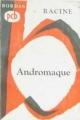 Couverture Andromaque Editions Bordas (Petits Classiques) 1965
