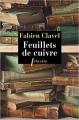 Couverture Feuillets de cuivre Editions Libretto 2017