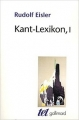 Couverture Kant-Lexikon, tome 1 Editions Gallimard  (Tel) 1994