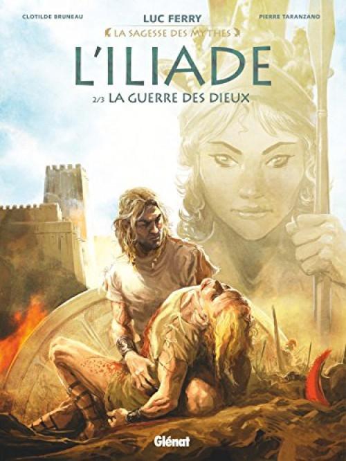 Couverture L'Iliade, tome 2 : La guerre des dieux