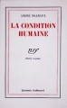 Couverture La condition humaine Editions Gallimard  (Blanche) 1986