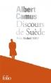 Couverture Discours de Suède Editions Folio  2017
