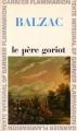 Couverture Le Père Goriot Editions Garnier Flammarion 1966