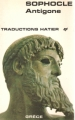 Couverture Antigone Editions Hatier (Traductions) 1973