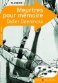 Couverture Meurtres pour mémoire Editions Belin / Gallimard (Classico - Collège) 2008
