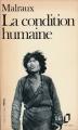Couverture La condition humaine Editions Folio  1972
