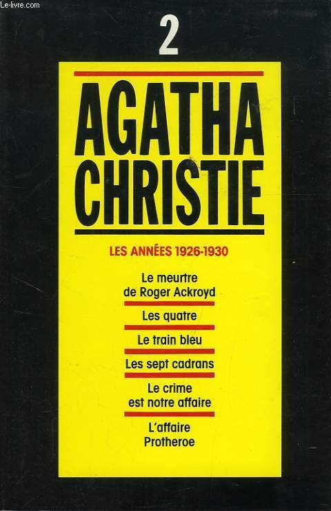 Couverture Agatha Christie, tome 02 : Les Années 1926-1930